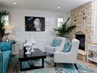 Бирюзовая гостиная – варианты идеального сочетания цвета (108 фото)