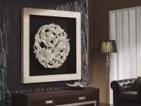 Декоративное панно для гостиной: экстравагантные методы придать стенам динамизма + 79 фото