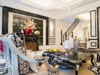 Черно-белый интерьер гостиной — стиль основанный на максимальном контрасте (75 фото)