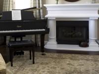 Дизайн гостиных с пианино и роялем – особенности смещения акцентов и примеры декорирования (91 фото + видео)