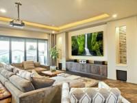 Домашний кинотеатр в гостиной: интегрирование в дизайн согласно законам распространения звука + 105 фото