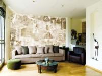 Фрески в интерьере гостиной — особый вид искусства для украшения стен + 90 фото
