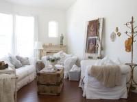 Гостиная шебби шик: потёртая легкость и светлость бытия (83 фото + видео)