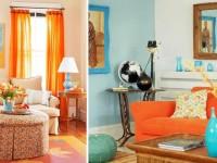 Гостиная в персиковом цвете — особенности применения и лучшие сочетания 68 фото