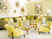 Гостиная в желтом цвете – простые решения сложных сочетаний +79 фото
