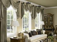 Короткие шторы в гостиную:  правила подбора и решение проблемы выбора от экспертов + 72 фото