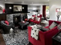 Красная гостиная — знакомство с особым и сложным дизайном + 98 фото