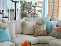 Подушки в гостиную: учимся подбирать самый важный визуальный штрих + 75 фото