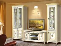 Шкаф-витрина в интерьере гостиной – красивое оформление к уникальному наполнению + 103 фото