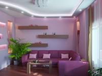 Сиреневая гостиная: примеры яркого и оригинального дизайна (77 фото)