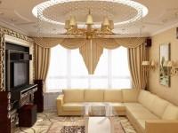 Бежевые обои в гостиной – лучший вариант для безупречного дизайна! (88 фото)
