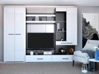 Глянцевые стенки в гостиную — Лучший способ яркой и оригинальной отделки (95 фото)