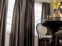 Коричневые шторы для гостиной – 81 фото лучших цветовых композиций в интерьере!