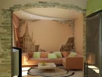 Рисунки на стенах в гостиной — примеры интересной графики и техники исполнения + 77 фото