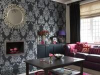 Серые обои в гостиной – утонченный способ для шикарного оформления дизайна! (100 фото)