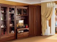 Угловой шкаф в гостиную – хитрая идея сохранить пространство с функциональным углом! (90 фото)