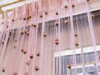 Веревочные шторы в гостиной — Интересный способ для оригинального дизайна (86 фото)