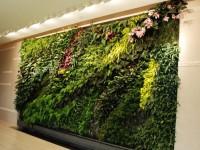 Вертикальное озеленение в гостиной – оригинальный интерьер с живой стенкой (80 фото)