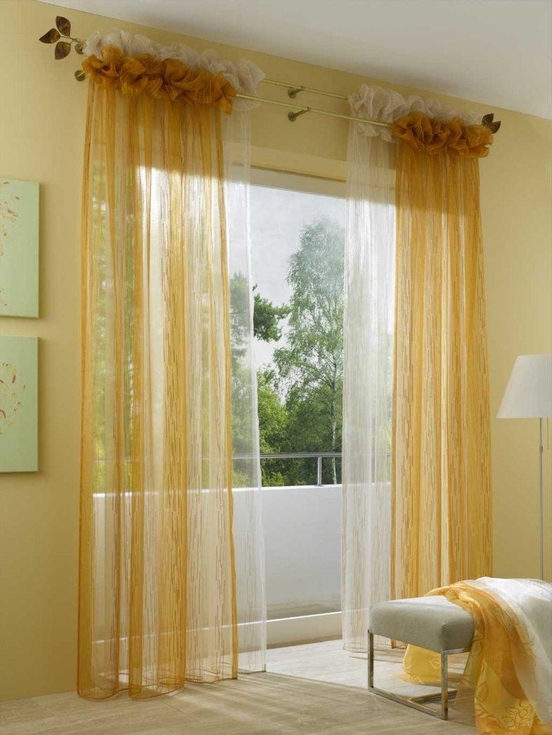 Как сшить двухцветные шторы