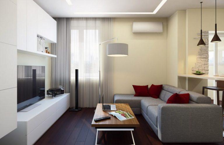 Гостиная с балконом - 60 фото примеров стильного дизайна.