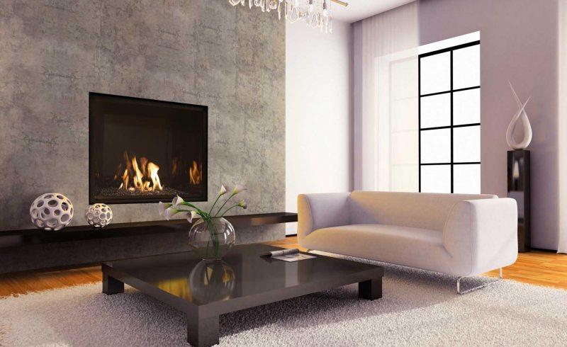 Камины модерн в интерьере гостиной фото