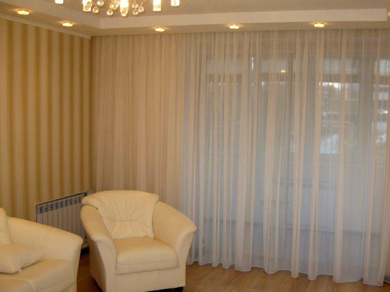 Фото идей тюль и шторы 10