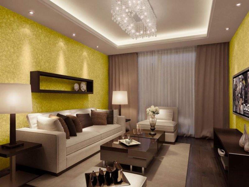 Идеи дизайна интерьера гостиной фото