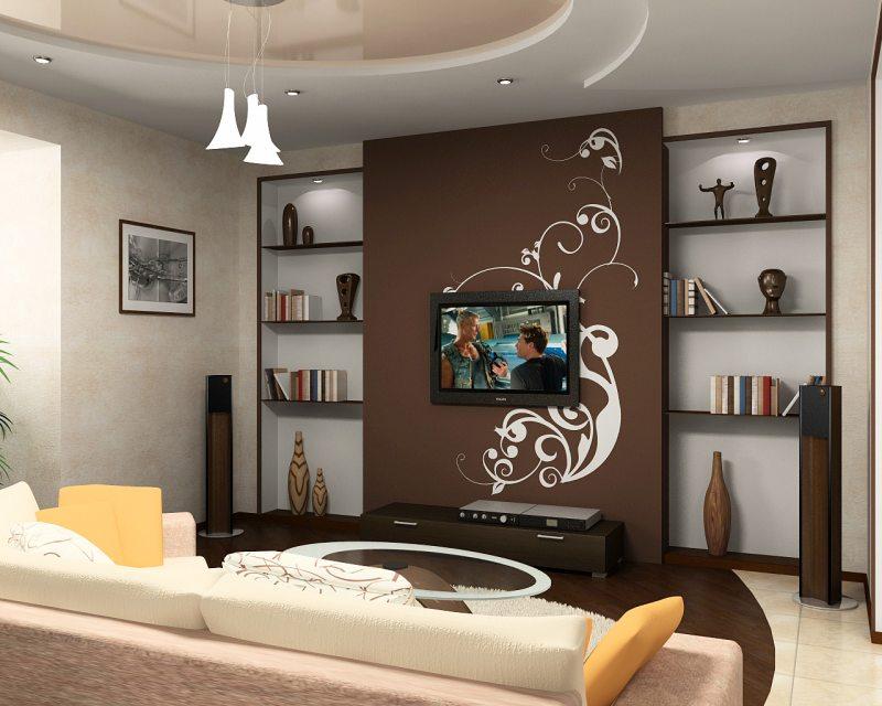 Televizor v interere gostinoy 15