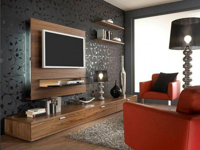 Televizor v interere gostinoy 36