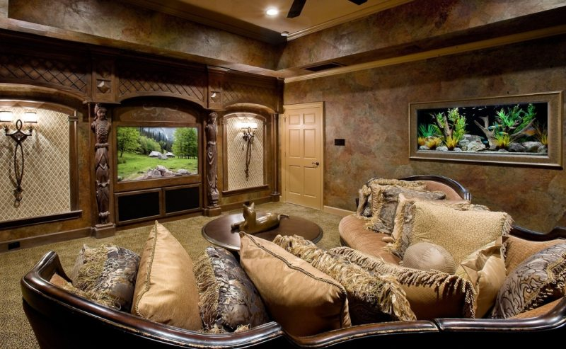 Akvarium v gostinoy 40