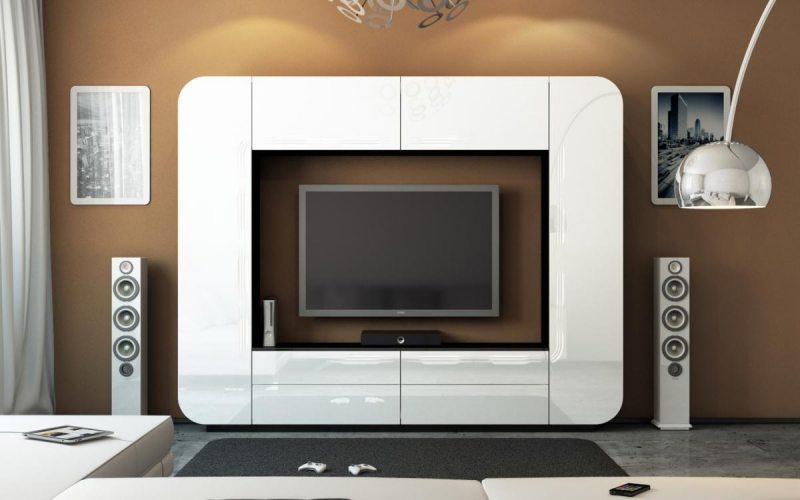 Мебель под телевизор белая