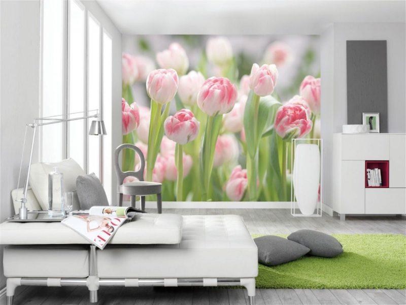 Фотообои на стену для кухни цветы