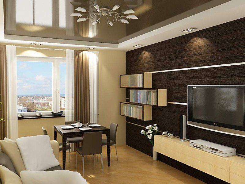 Интерьер гостиной в современном стиле в хрущевке фото