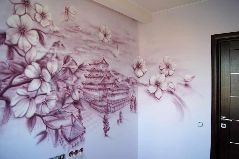Risunki na stenah v gostinoy 70