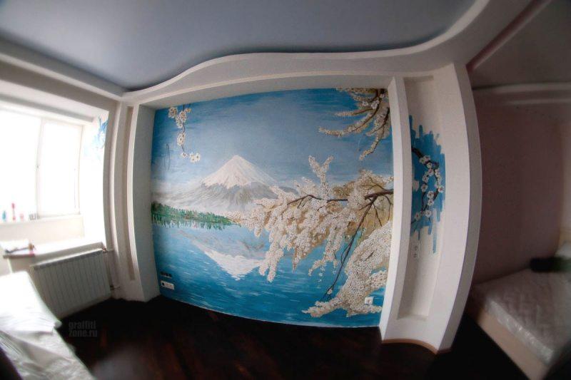 Risunki na stenah v gostinoy 74