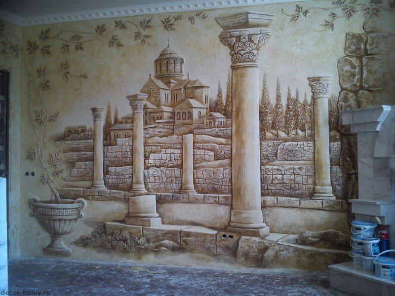 Risunki na stenah v gostinoy 83
