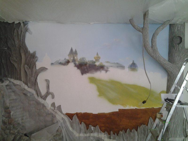 Rospis sten v gostinoy 7