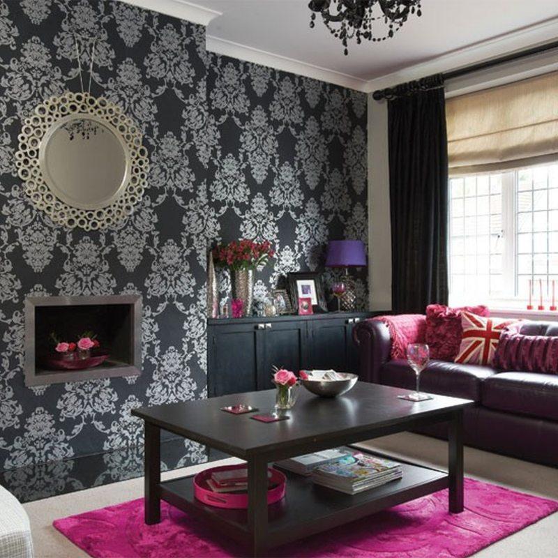 Комбинирование обоев в гостиной - 95 фото идеального сочетания цвета | 800x800